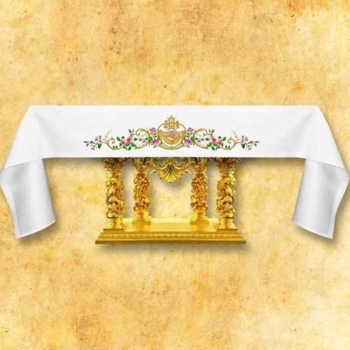 """Nappe d'autel """"IHS Mariage"""""""
