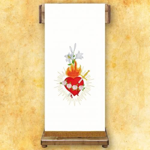 Voile de lutrin brodée Cœur Marie
