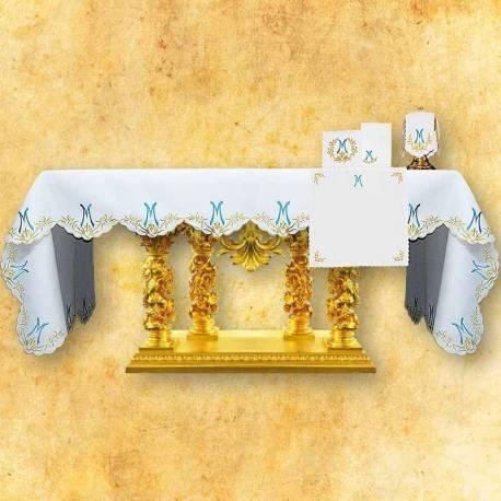 Nappe d'autel AVE MARIA BLEU