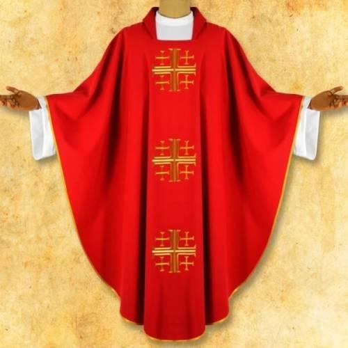"""Chasuble """" Le croix Jerusalem"""""""