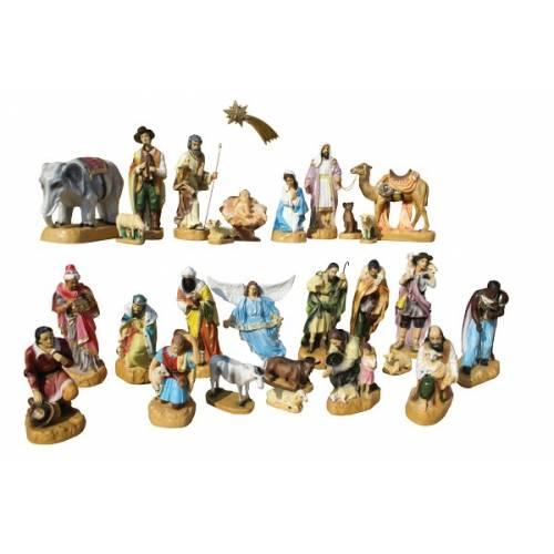 Creche Noel - 28 figurines vers 50 cm hauteur