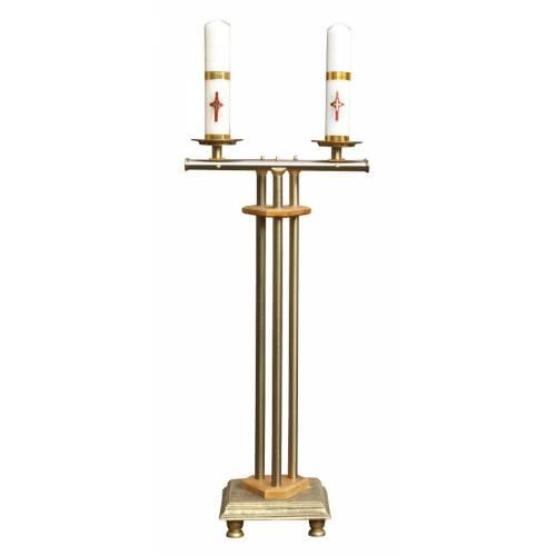 Le chandelier pour 2 cierges