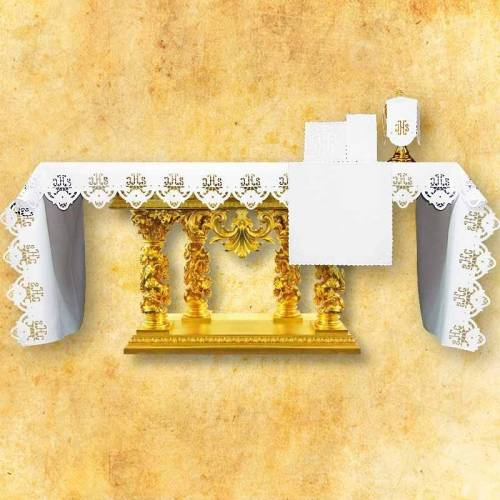 Nappe d'autel IHS