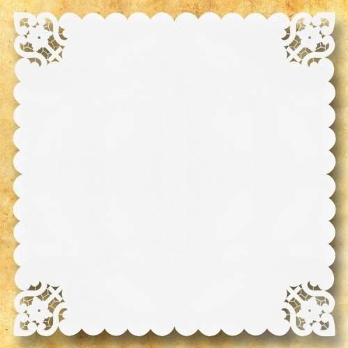"Petites Nappes Carrees "" Bianco Fiori """