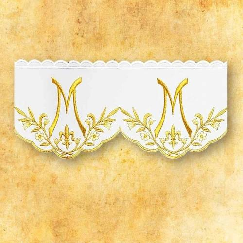 Dentelle Brodee AVE MARIA d'or