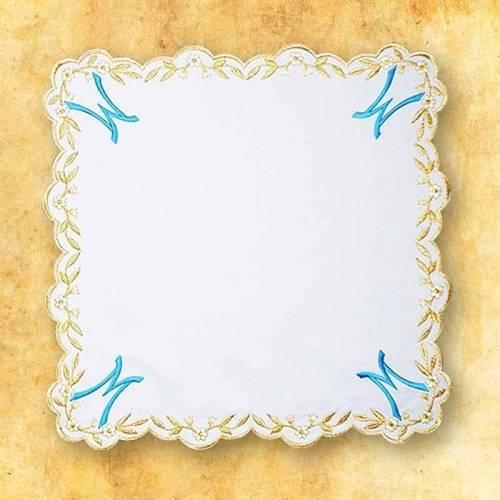 Serviette d'autel AVE MARIA Bleue