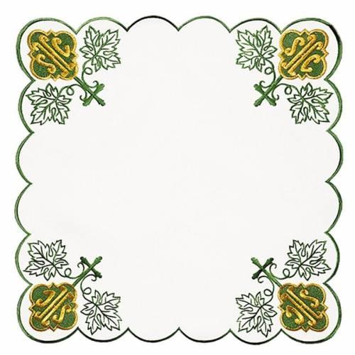 Serviette d'autel IHS vert