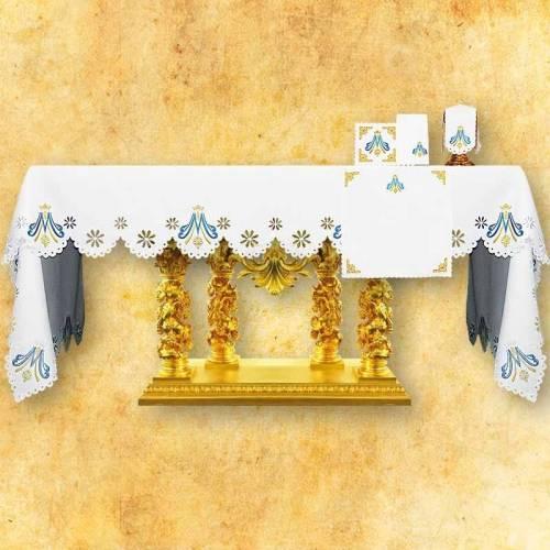 Nappe d'autel Mariale