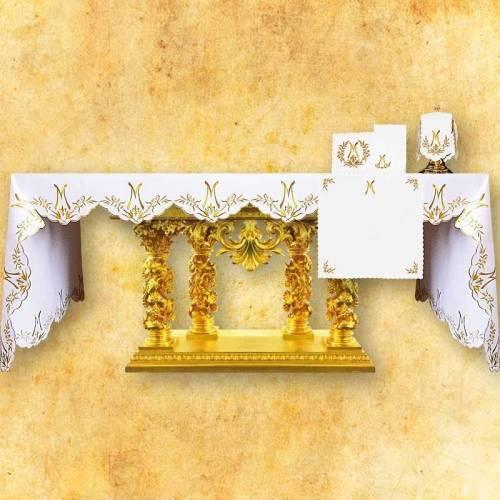 Nappe d'autel AVE MARIA d'or