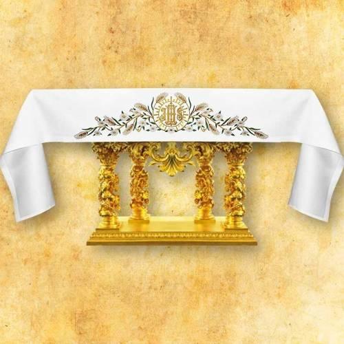 Nappe d'autel JHS