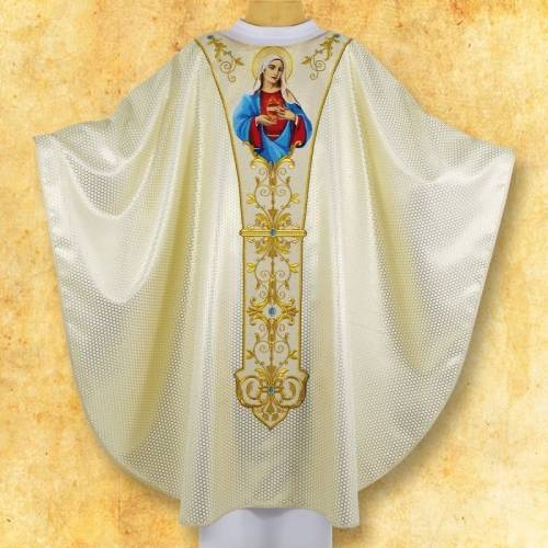 "Chasuble ""Coeur Maria"""