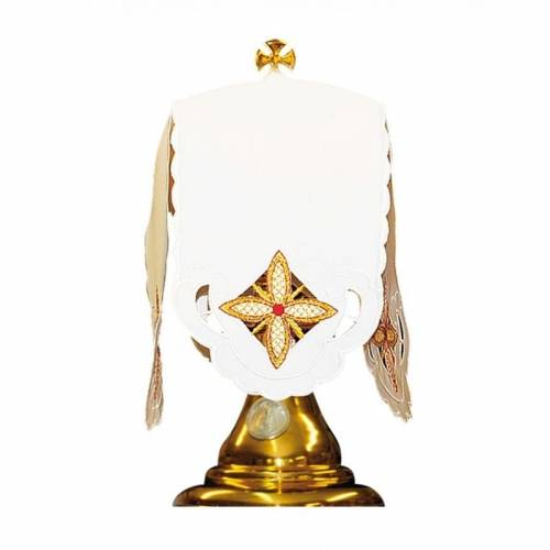 """Pavillon de ciboire """" Des Croix dans la Carre - blanc"""""""