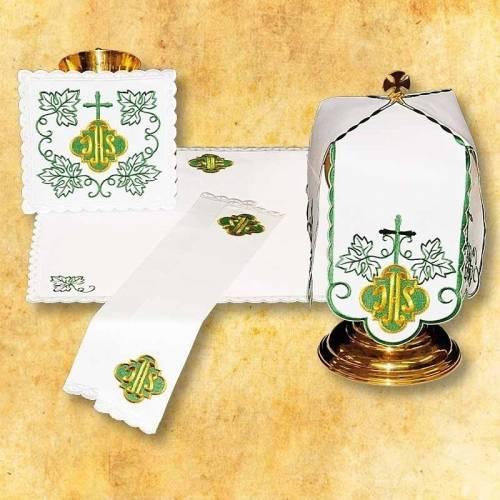 Linge d'autel IHS vert