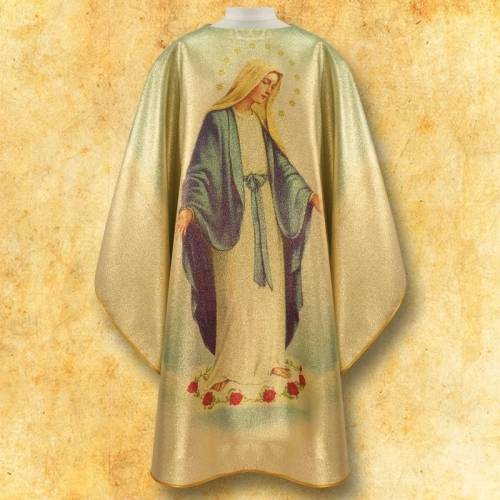 Chasuble avec photo ND Chapelet