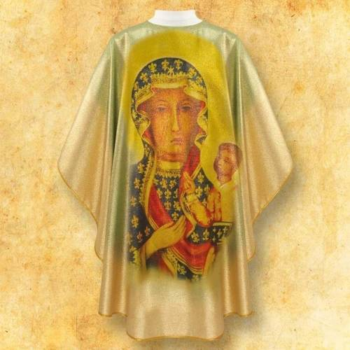 Chasuble  avec photo ND Czestochowa