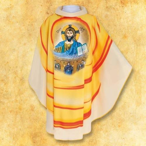 Chasuble avec photo Jesus