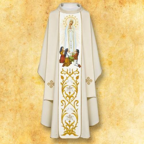 "Chasuble Mariale ""ND Fatima"""