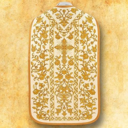 """Chasuble romaine """"Roses"""" - complet"""