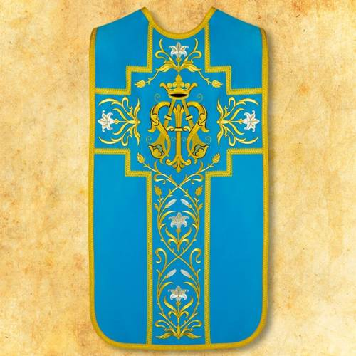 """Chasuble romaine """"Mariale"""" - complet"""