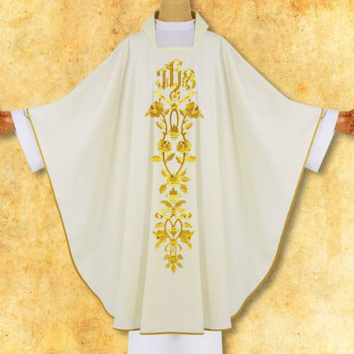 CHASUBLE JHS avec Roses
