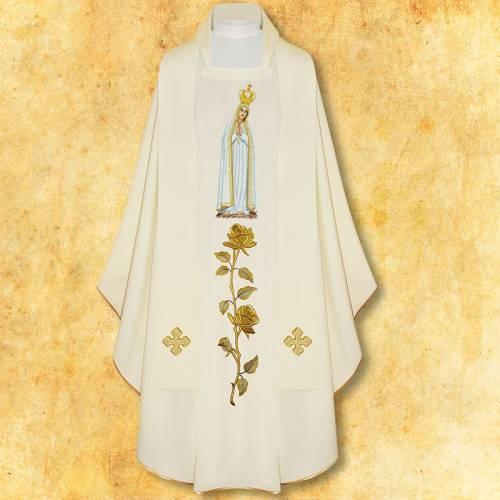 """Chasuble """"Notre Dame Fatima"""""""