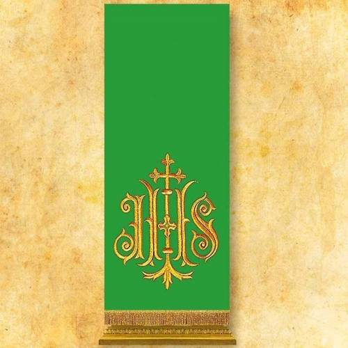 Voile de lutrin IHS vert