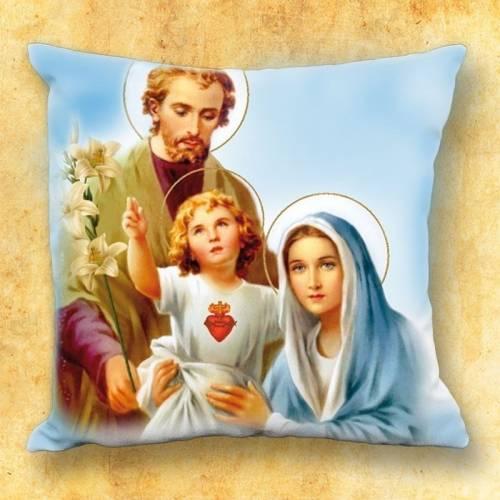 Le coussin avec motif religieux - Sainte Famille