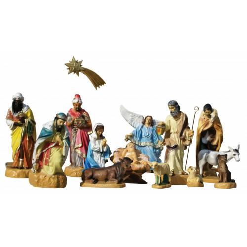 Crèche - 14 figurines vers 54 cm hauteur