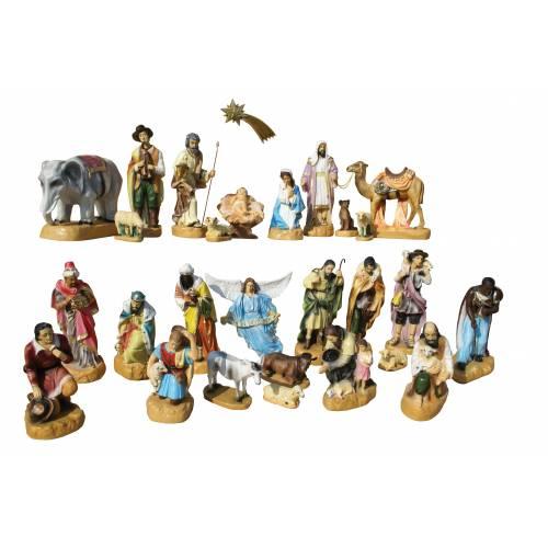 Crèche Noel - 28 figurines vers 54 cm hauteur