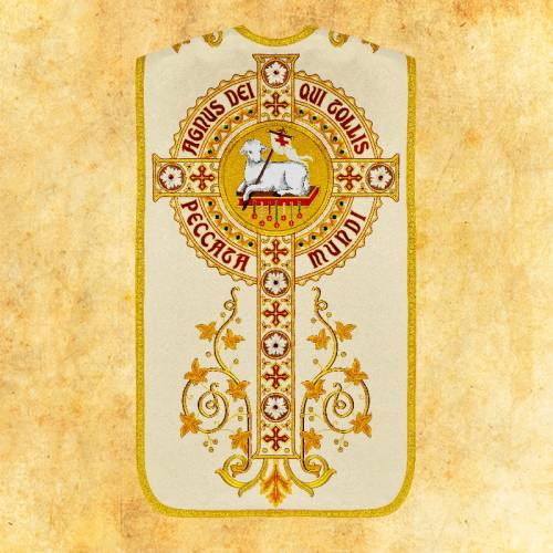 """Chasuble romaine """"Agneau de Dieu"""" - complet"""