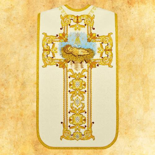 """Chasuble romaine """"Sacrale"""" - complet"""