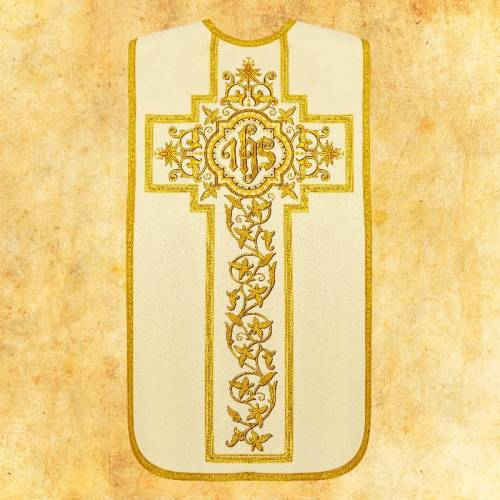 """Chasuble romaine """"Pastorales"""" - complet"""