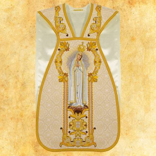 """Chasuble romaine """"ND Fatima """" - complet"""