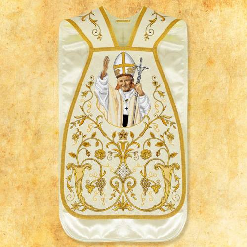"""Chasuble romaine """"Jean Paul II """" - complet"""