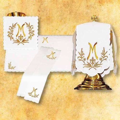 Linge d'autel AVE MARIA d'or