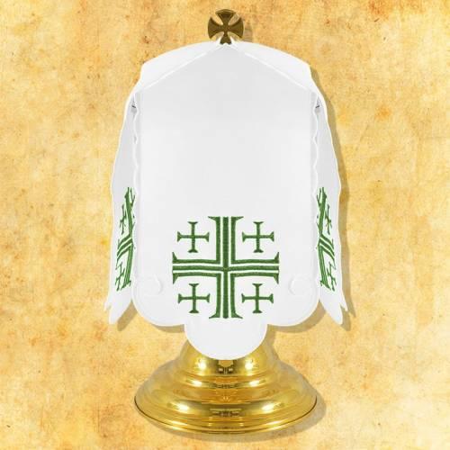 """Linge d'autel """" La Croix de Jerusalem"""" - rouge"""