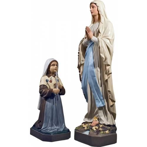 Statue Notre Dame de Loudres + Sainte Bernadette