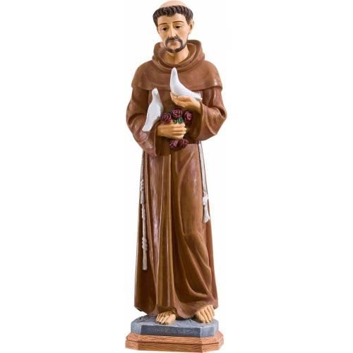 Statue Saint François avec les pigeons - 80 cm