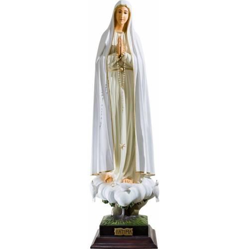 Statue Notre Dame Fatima avec pigeons - 40 cm