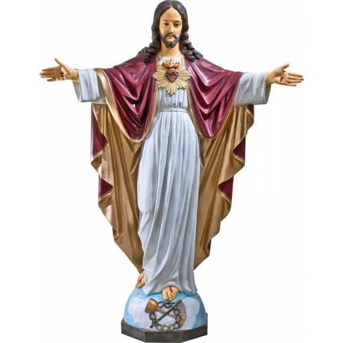 Statue Jesus Christ Sacre Cœur - 135 CM