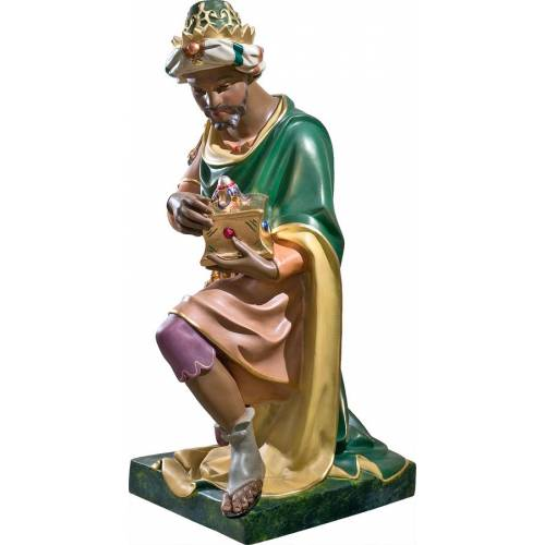 Statue Roi avec d'or - 83 cm