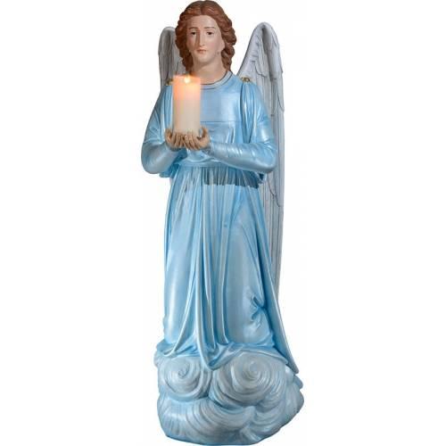 Statue Ange à genoux avec cierge -145 cm